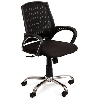 Buy Si Black Mid Back Revolving Chair Online Get 34 Off