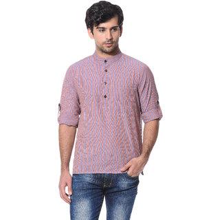Abhiyuthan Striped Multi Casual Short Kurta for Men