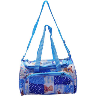 Wonderkids Multi Print Diper Bag Pink Blue