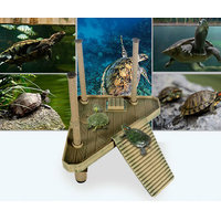 Magideal Reptile Turtle Pier Platform Amusement Park With Ramp Ladder Plastic Basking