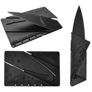 Rinoto NA Black Stainless Steel Credit Card Knife