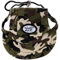 Magideal Small Pet Dog Cat Kitten Camouflage Baseball Hat Strap Cap Sunbonnet M