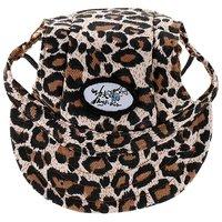 Magideal Small Pet Dog Cat Kitten Leopard Baseball Hat Neck Strap Cap Sunbonnet S
