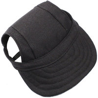 Magideal Small Pet Dog Cat Kitten Baseball Hat Neck Strap Cap Sunbonnet S Black