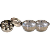 Kpro Combo Of Stainless Steel Masala Box With 2 Serving Bowls