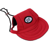 Magideal Small Pet Dog Cat Kitten Baseball Hat Neck Strap Cap Sunbonnet S Red