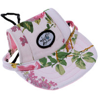 Magideal Small Pet Dog Cat Kitten Flower Foral Baseball Hat Strap Cap Sunbonnet S