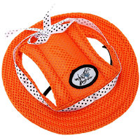 Magideal Pet Dog Cat Kitten Princess Mesh Strap Hat Cap Sunbonnet Size M - Orange