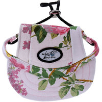 Magideal Small Pet Dog Cat Kitten Flower Foral Baseball Hat Strap Cap Sunbonnet M
