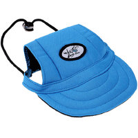 Magideal Small Pet Dog Cat Kitten Baseball Hat Neck Strap Cap Sunbonnet M Blue