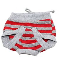 Magideal Female Pet Dog Puppy Diaper Sanitary Pant Panty Underwear Red Gray Stripe M