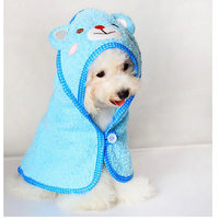 Magideal Pet Dog Cat Bear Design Puppy Bath Towel Bathrobes Pajamas Blanket Blue S