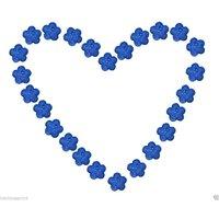 Atorakushon 25 Designer Glitter Flower Star Shape Tealight T.lite Floating Candle For Diwali