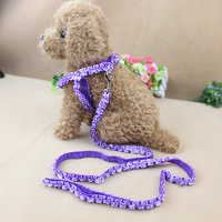 Magideal Adjustable Pet Dog Belt Nylon Lead Leash Collar Harness Safety Strap Purple