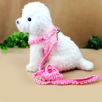 Magideal Adjustable Pet Dog Belt Nylon Lead Leash Collar Harness Safety Strap Pink