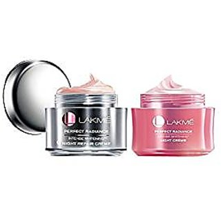 Buy Lakme Perfect Radiance Intense Whitening Night Repair Crme, 50g with Light Crme, 50g