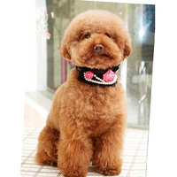 Magideal Pet Dog Cat Puppy Rose Pearls Decor Necklace L