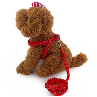 Magideal Adjustable Pet Dog Belt Nylon Lead Leash Collar Harness Safety Strap Red