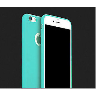 Ultra Slim Candy Color Soft Silicon Phone Back Cover For iPhone 5/5S-Mint Green