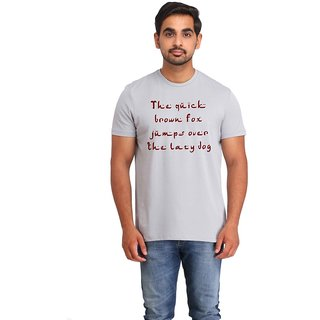 Snoby Printed Text cotton T-shirt (SBY16414)