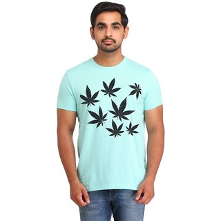 Snoby weed Leaves cotton printed T-shirt (SBY16532)