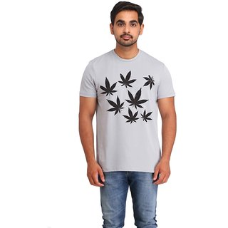 Snoby weed Leaves cotton printed T-shirt (SBY16533)