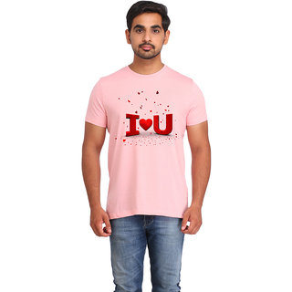 Snoby I Love u cotton printed T-shirt (SBY16557)