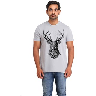 Snoby Deer cotton printed T-shirt (SBY16596)