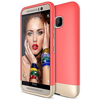 Htc One M9 Case/Maxboost Vibrance Series Htc One M9 Case/Htc M9 Case Protective Soft-Interior Scratch Protection Metallic Finished Base With Vibrant Trendy Color Slider Style Hard Cases For Htc One M9 Italian Rose/Champagne