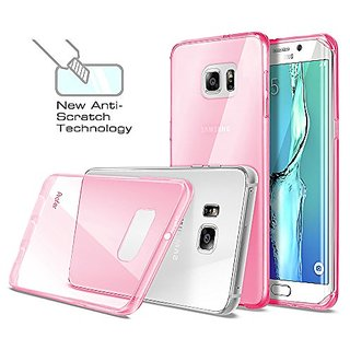 S6 Edge Plus Case, Profer [Anti-Scratches] and [Drop Protection] Soft TPU Gel [Ultra Slim] Premium Flexible?Soft Bumper Rubber Protective Case Cover for Samsung Galaxy S6 Edge Plus (Pink)