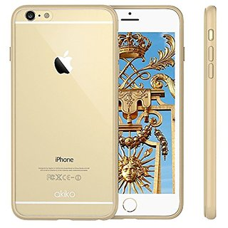 Akiko Bumper Case With Clear Back Panel Cover For Iphone 6 Plus/6S Plus - Clear/Champagne Gold
