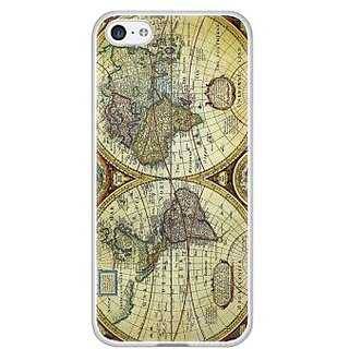 Cellet World Map Proguard Case for iPhone 5C  - White