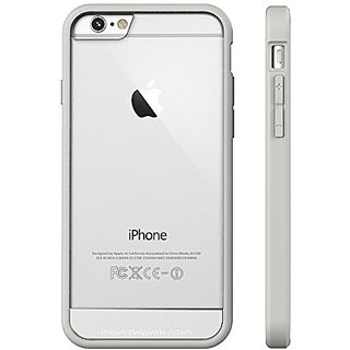 Iphone 6S Plus Case, Jetech Apple Iphone 6S/6 Plus Case 5.5 Inch Bumper Cover Shock-Absorption Bumper And Anti-Scratch Clear Back For Iphone 6S Plus Iphone 6 Plus 5.5 Inch (Metal - Bumper - Silver)