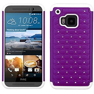 Mybat Asmyna Htc One M9 Fullstar Protector Cover Retail Packaging Purple/Solid White