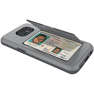 Samsung Galaxy S7 Edge Case/Incipio Stowaway/Credit Card Case With Integrated Stand Wallet Polycarbonate Rigid Cover Gray