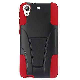 Reiko Silicone With Cell Phone Case For Htc Desire 626626S Redblack