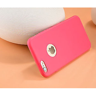 Ultra Slim Candy Color Soft Silicon Phone Back Cover For iPhone 5/5S-Red