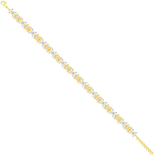 VK Jewels Exqisite Bracelet Gold and Rhodium Plated Alloy for Girls & Women - BR1077G [VKBR1077G]