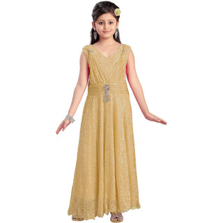 b65e4f142 Buy Aarika Girls Self design Premium Net Party Wear Dress Online ...