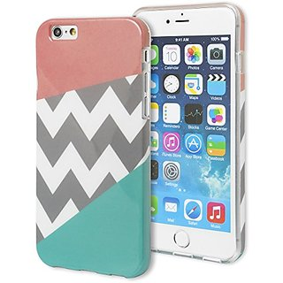 Iphone 6 Case Bastex Heavy Duty Snap On Protective Case Tri Pink Chevron And Teal Pattern Design Hard Case For Apple Iphone 6 Plus