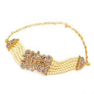 Sukkhi Amazing Gold Plated AD Bajuband For Women