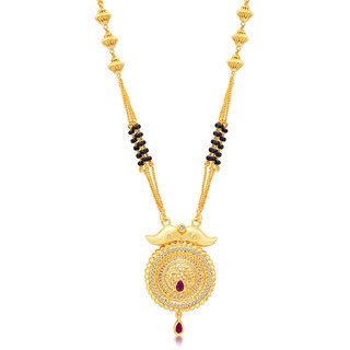 Sukkhi Trendy Gold Plated AD Mangalsutra For Women