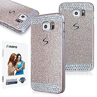 Galaxy S6 edge Case , iAnko *CHRISTMAS* Luxury Bling Rhinestone Diamond Crystal Glitter Hard PC Case Cover Shell Phone Case for Samsung Galaxy S6 Edge S VI Edge(SM-G925) (Gold (Hard Case)