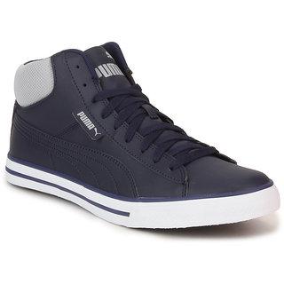Puma Salz Mid Dp Men's Blue Lace-up Casual Shoes