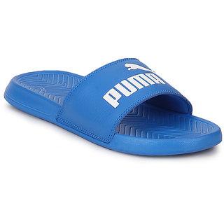 Puma Popcat Electric Blue Lemonade White Men's Blue Flip Flops