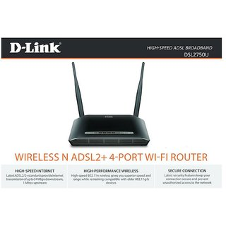 Dlink DSL2750U N300 ADSL2+ Broadband Wifi Router support DWM156 3GUSB Dongle