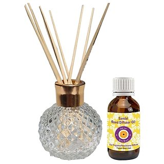 Reed Diffuser - Sandal Oil (30ml) - Fragrance made in Spain