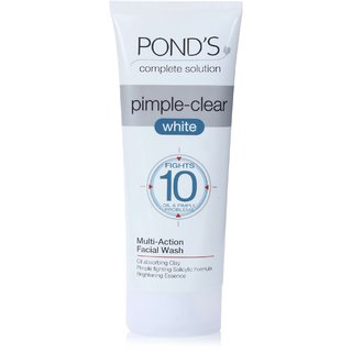 Ponds Complete Solution Pimple-Clear White Multi-Action Facial Wash (100G) (Pack Of 2)