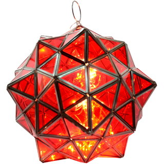 Iron glass star lantern