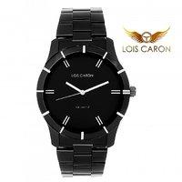 LOIS CARON LCS -4082 BLACK BEZEL ANALOG WATCH - FOR MEN